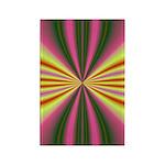 Pink Lady Fractal Rectangle Magnet (10 pack)