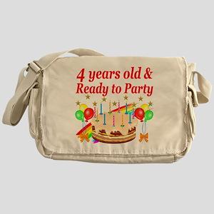 4TH BIRTHDAY Messenger Bag