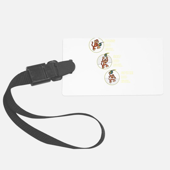 The Volleyball Machine 3 Monkeys Luggage Tag