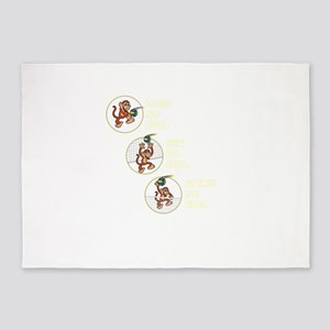 The Volleyball Machine 3 Monkeys 5'x7'Area Rug