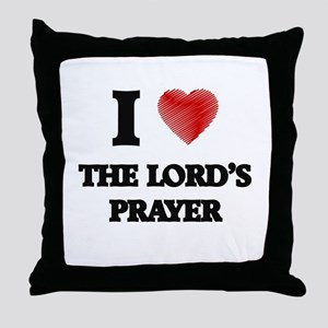I love The Lord'S Prayer Throw Pillow