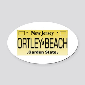 Ortley Beach NJ Tag Gifts Oval Car Magnet