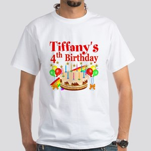 PERSONALIZED 4TH White T-Shirt