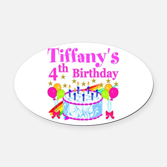 PERSONALIZED 4TH Oval Car Magnet