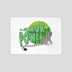 Lemur Power 5'x7'Area Rug