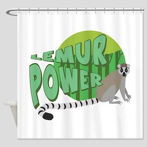 Lemur Power Shower Curtain