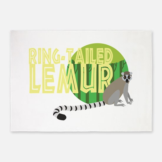 Ring-Tailed Lemur 5'x7'Area Rug