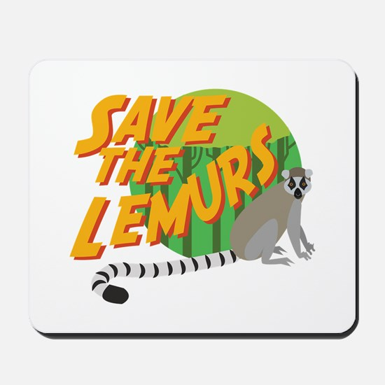 Save the Lemurs Mousepad