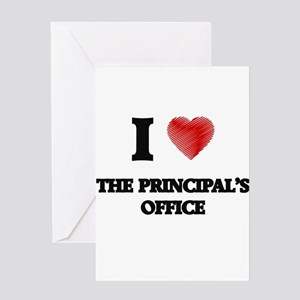 Principals office stationery cafepress i love the principals office greeting cards m4hsunfo