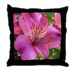 Pink Alstromeria - Throw Pillow