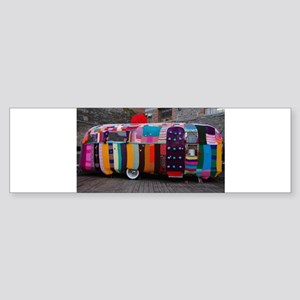 Knitted caravan cover Bumper Sticker