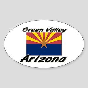 Green Valley Arizona Oval Sticker