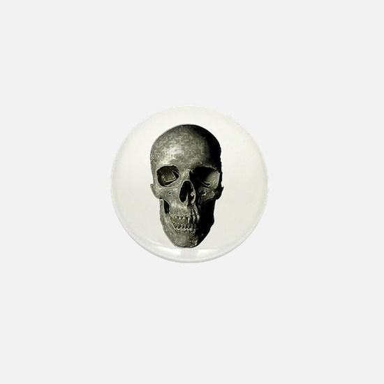 Gray Skull Mini Button