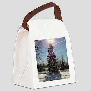 Christmas Peace Canvas Lunch Bag