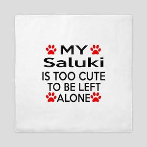 Saluki Is Too Cute Queen Duvet