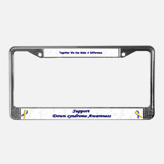 Cute Children with disabilities License Plate Frame