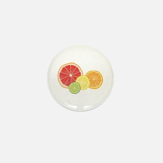 Citrus Fruit Mini Button