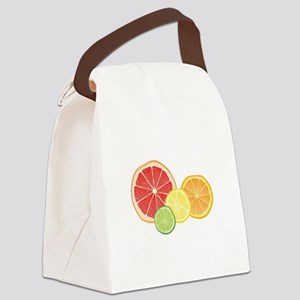 Citrus Fruit Canvas Lunch Bag