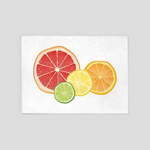 Citrus Fruit 5'x7'Area Rug