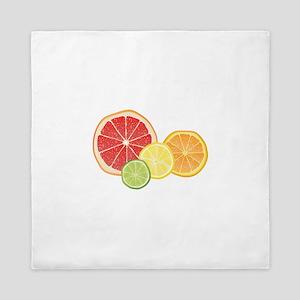 Citrus Fruit Queen Duvet