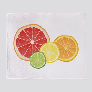 Citrus Fruit Throw Blanket