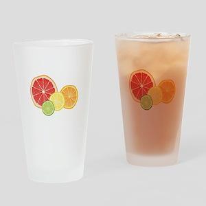 Citrus Fruit Drinking Glass