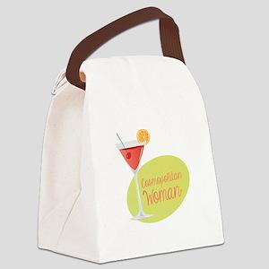 Cosmopolitan Woman Canvas Lunch Bag