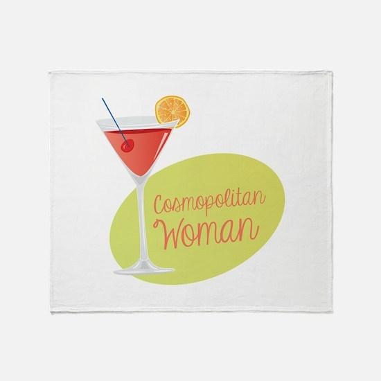 Cosmopolitan Woman Throw Blanket
