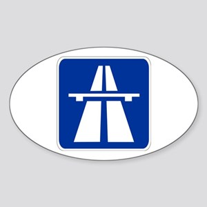 German Autobahn Oval Sticker