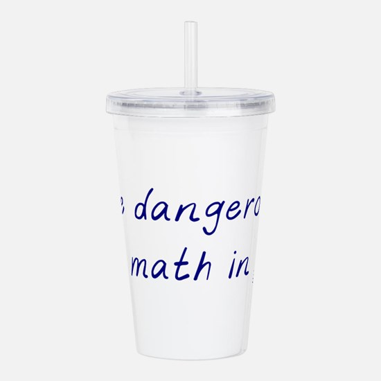 I do math in pen Acrylic Double-wall Tumbler