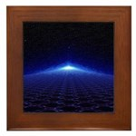 Time Portal In Space Framed Tile