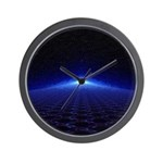 Time Portal In Space Wall Clock