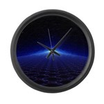 Time Portal In Space Large Wall Clock