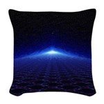 Time Portal In Space Woven Throw Pillow
