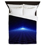 Time Portal In Space Queen Duvet
