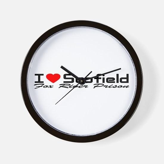 I Love Scofield - Fox River Wall Clock