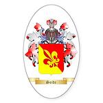 Seide Sticker (Oval 50 pk)