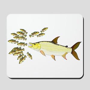 Giant Tigerfish attacks Jewel Cichlids Mousepad