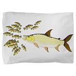 Giant Tigerfish attacks Jewel Cichlids Pillow Sham