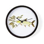 Giant Tigerfish attacks Jewel Cichlids Wall Clock