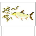 Giant Tigerfish attacks Jewel Cichlids Yard Sign