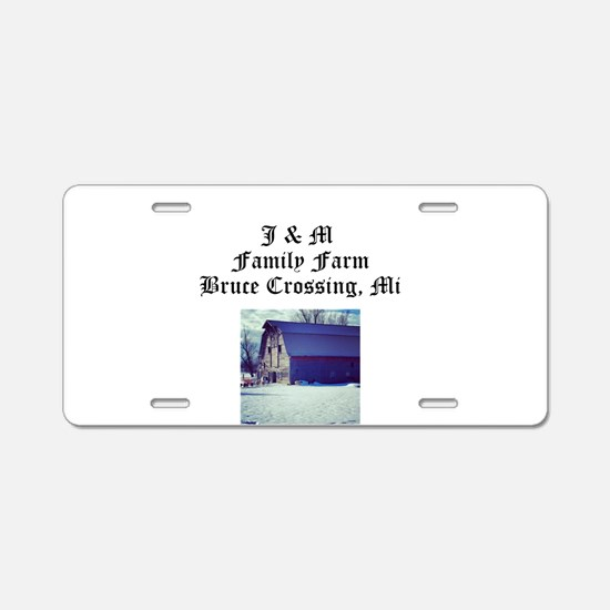J M Family Farm Aluminum License Plate