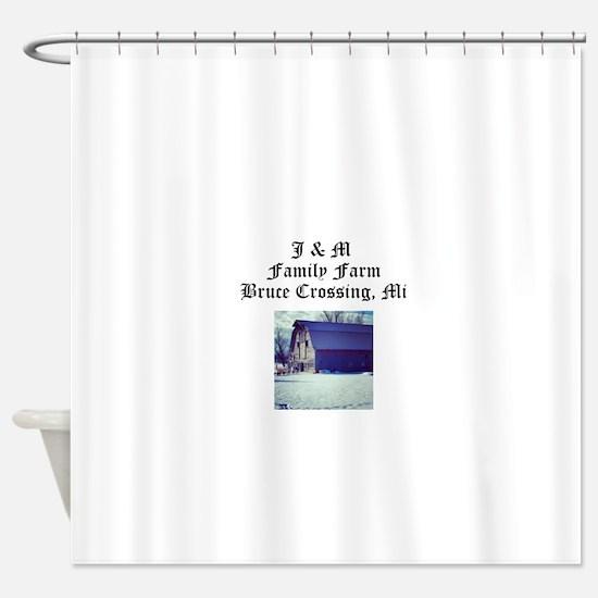 J M Family Farm Shower Curtain