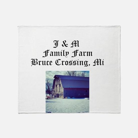 J M Family Farm Throw Blanket