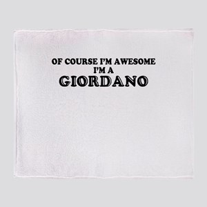 Of course I'm Awesome, Im GIORDANO Throw Blanket