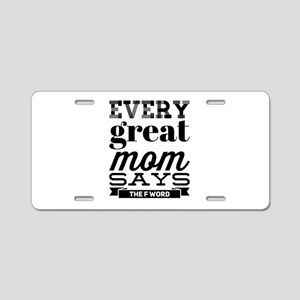 MommySwears Aluminum License Plate