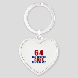 64 Another Cake Under My Belt Heart Keychain