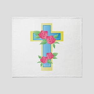 Easter Cross Throw Blanket