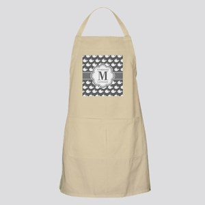 Gray Whale Pattern, Custom Monogram Apron