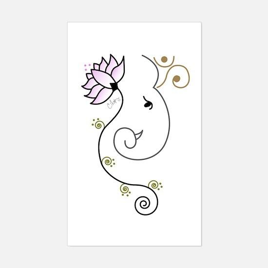 Cute Om Sticker (Rectangle)